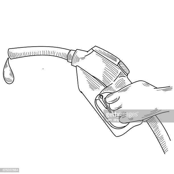 gasoline - fuel pump stock illustrations, clip art, cartoons, & icons
