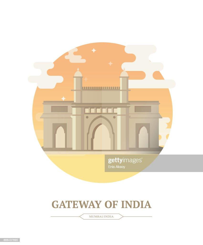 インドの Gatway : ストックイラストレーション