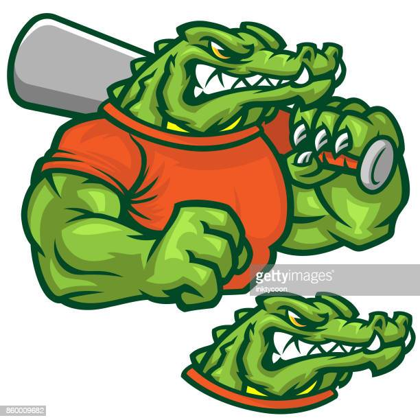 gator baseball pack - alligator stock illustrations, clip art, cartoons, & icons