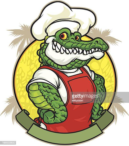 gator lunch - alligator stock illustrations, clip art, cartoons, & icons