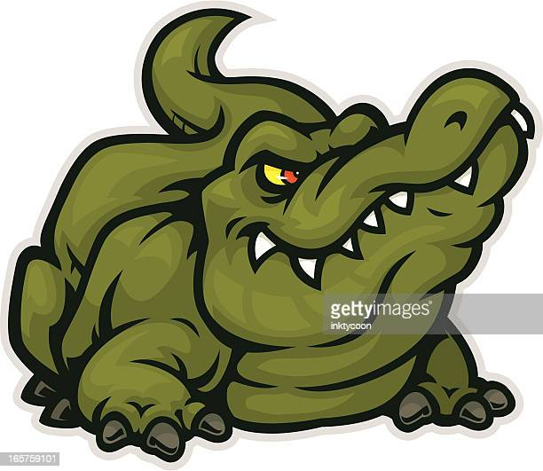 gator mascot bite - alligator stock illustrations, clip art, cartoons, & icons