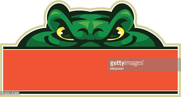 gator mascot sign - alligator stock illustrations, clip art, cartoons, & icons
