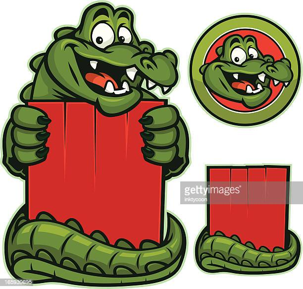 gator mascot - alligator stock illustrations, clip art, cartoons, & icons