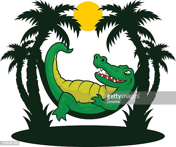 gator rest - alligator stock illustrations, clip art, cartoons, & icons
