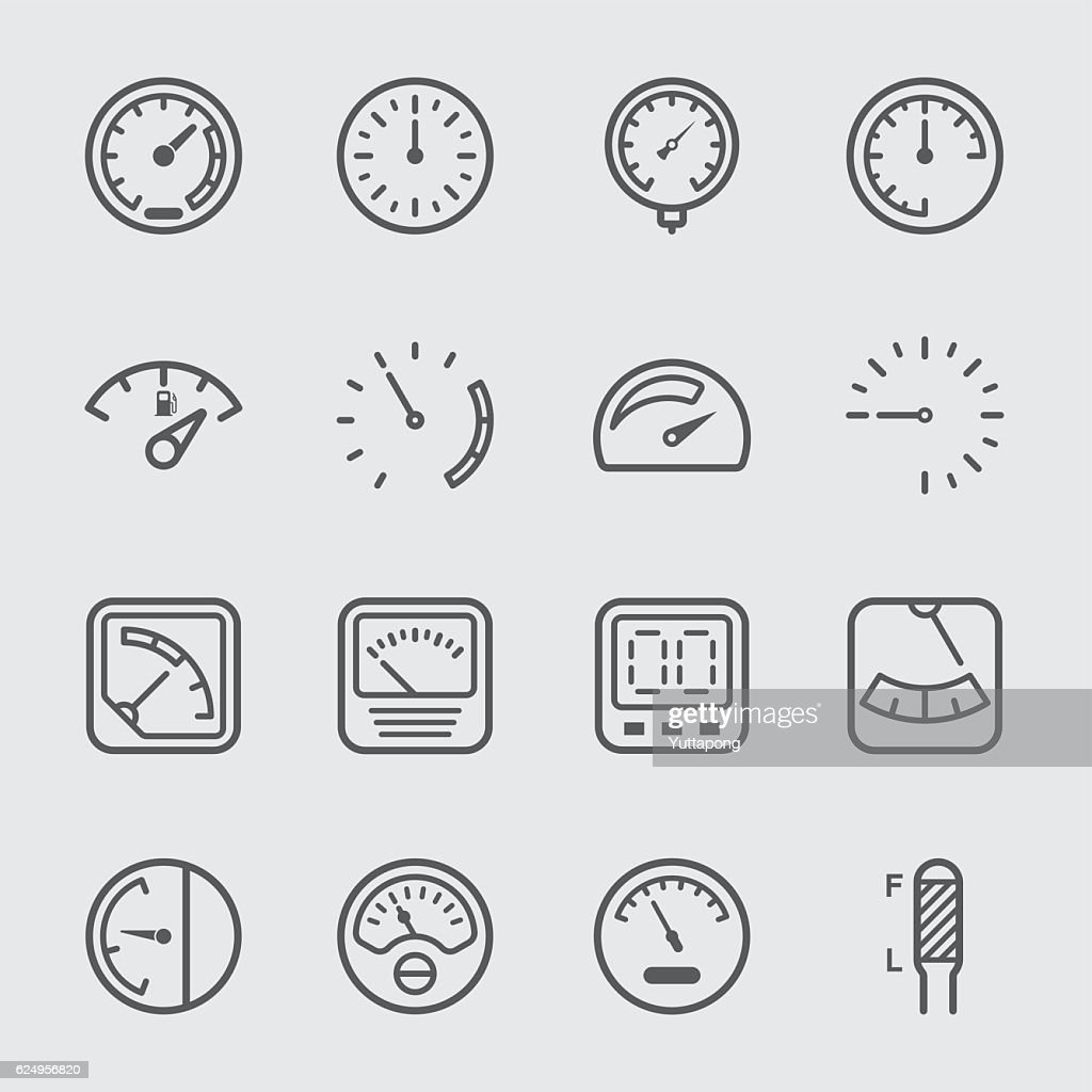 Gauge and Meter line Icon
