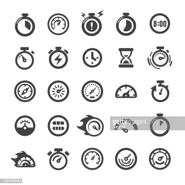 gauge and speedometer icons - smart series - gas meter stock illustrations, clip art, cartoons, & icons