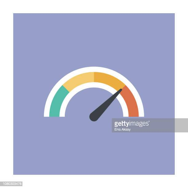 gauge icon - high up stock illustrations