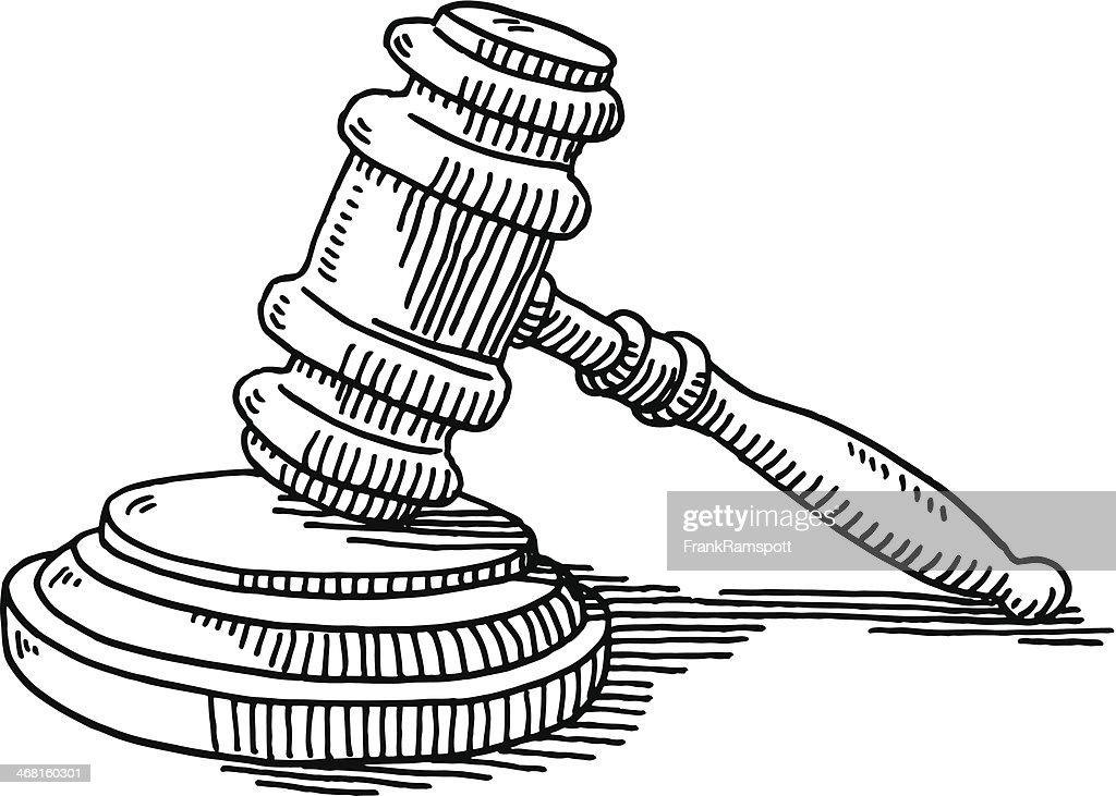 Marteau de juge et soundblock justice dessin clipart - Dessin de marteau ...