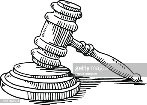 Gavel And Soundblock Justice Drawing High-Res Vector ...