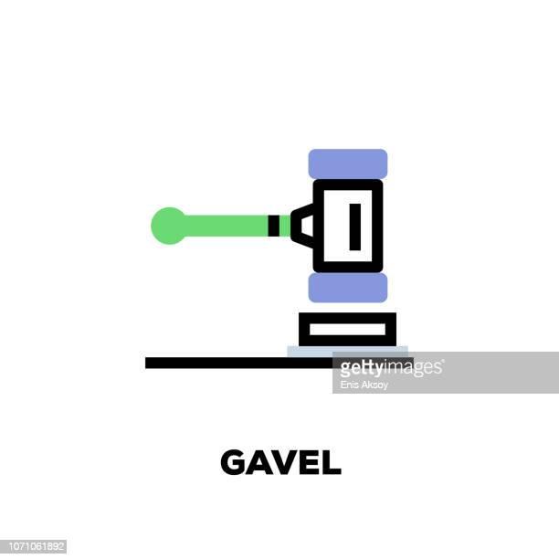 gavel icon - criação digital stock illustrations
