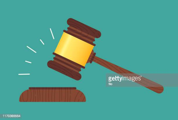 gavel - bid stock illustrations