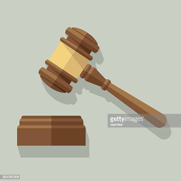 gavel - judge stock illustrations