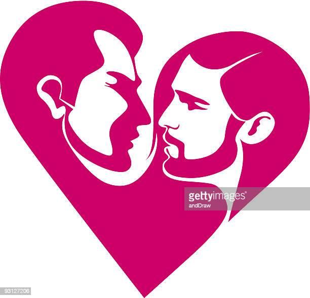 ilustrações de stock, clip art, desenhos animados e ícones de casal gay em coração - casais de lesbicas