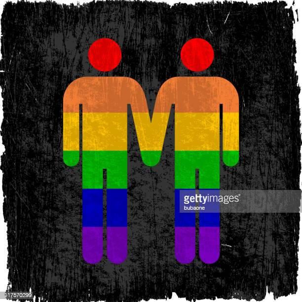 ilustrações de stock, clip art, desenhos animados e ícones de casal gay em fundo de vetor royalty free - casais de lesbicas
