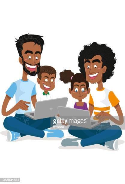 Couple gay avec leurs enfants