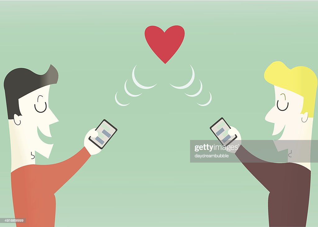 Gay Online Dating Concept