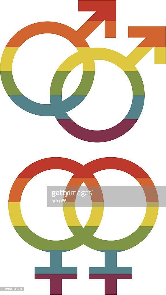 Gay Pride Gender Symbols