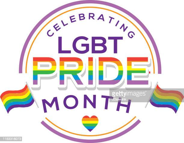 gay pride or lgbt happy pride month label or sticker design - pride stock illustrations