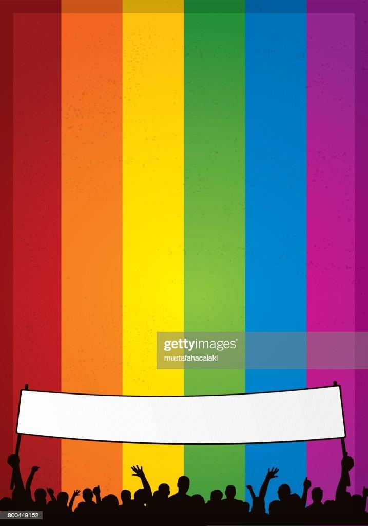 Gay pride poster : stock illustration