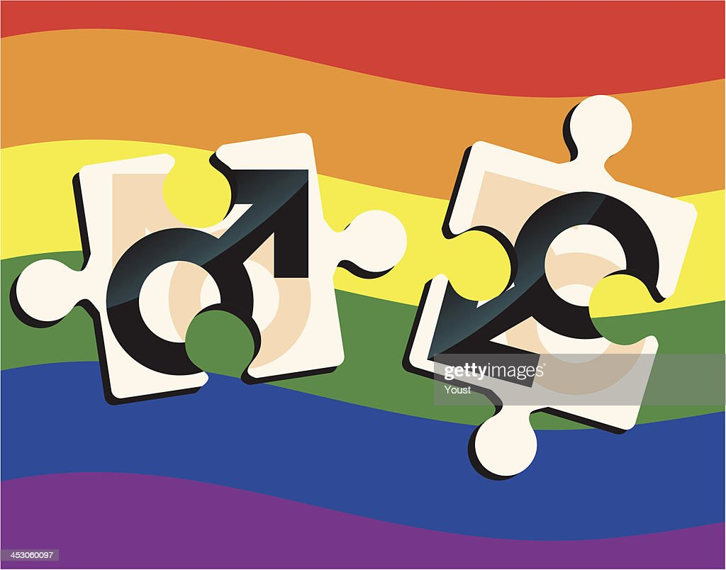 Gay Puzzle : stock illustration