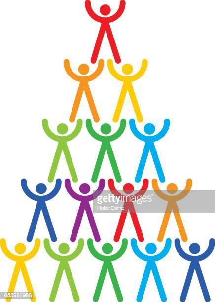 Gay recht menselijke piramide