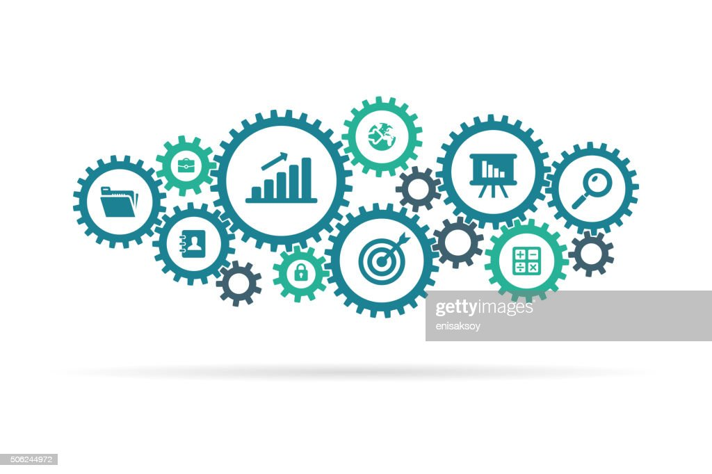 Gear and business icons : stock illustration