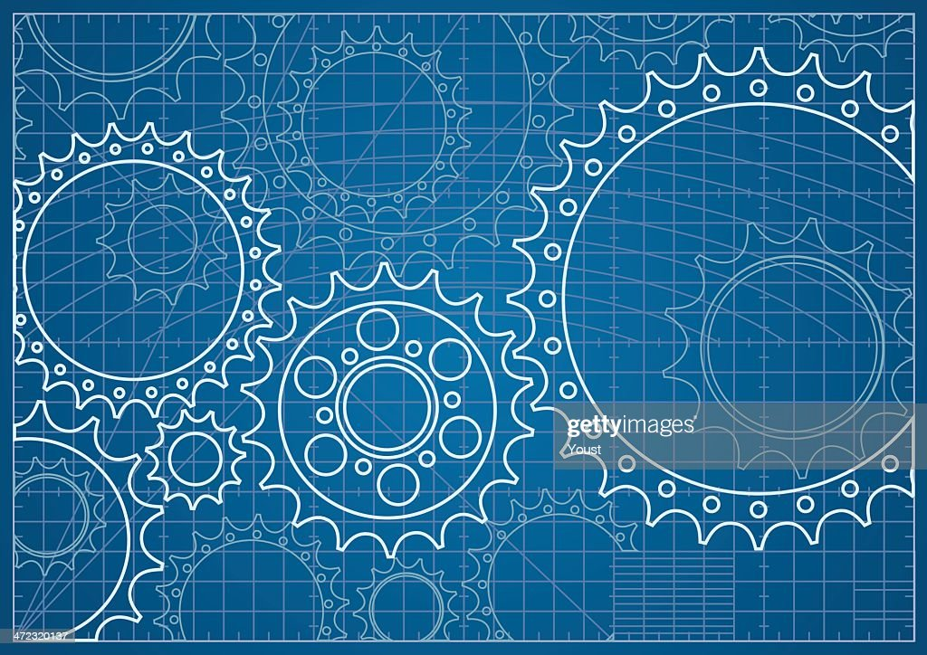 Gear Blueprint : stock illustration