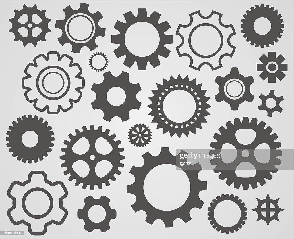gear cogs icon : Vector Art