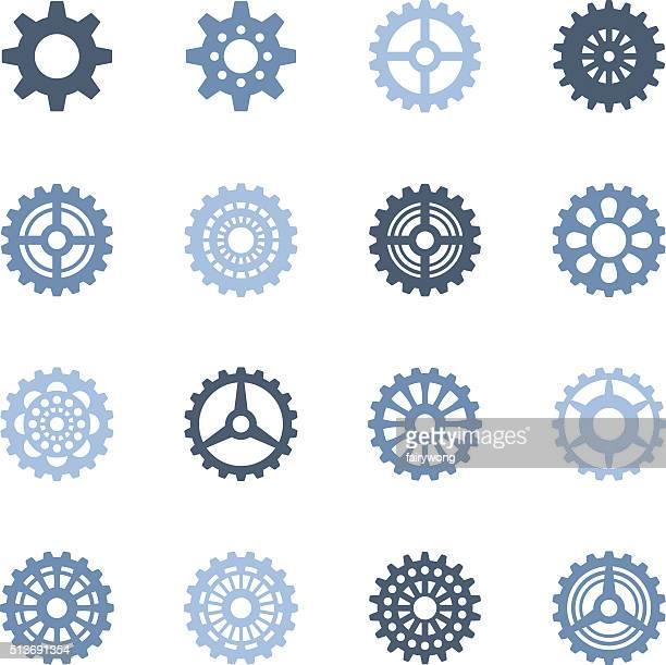 Peças ícones de rodas de Engrenagem