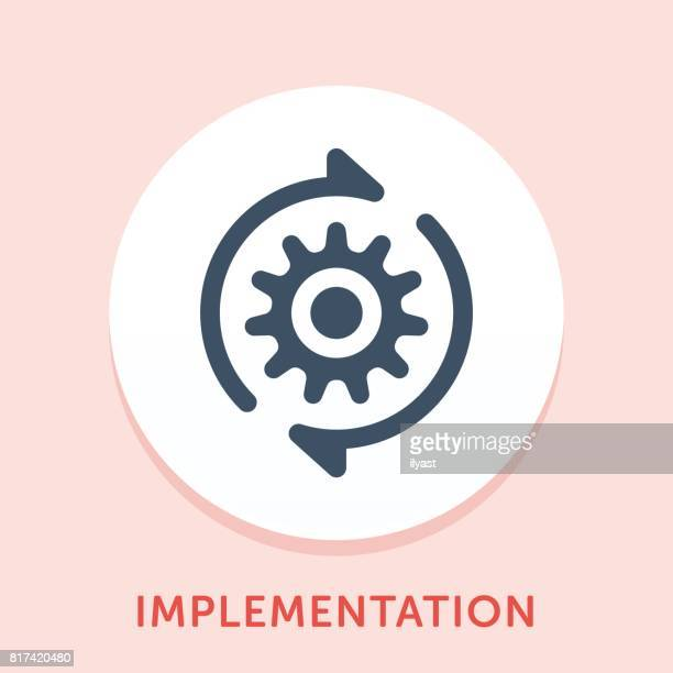gear curve icon - cog stock illustrations