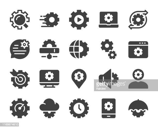 gear element - icons - fasting activity stock illustrations, clip art, cartoons, & icons