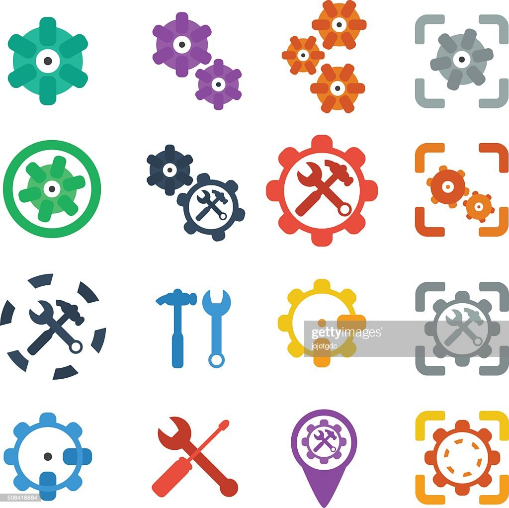 Gear Icon Vector Cog Settings Icon Symbol High-Res Vector