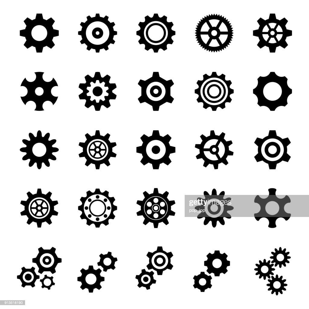 Gear Icons - Illustration : stock illustration