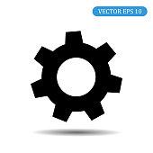 Gear icon.Vector illustration eps 10