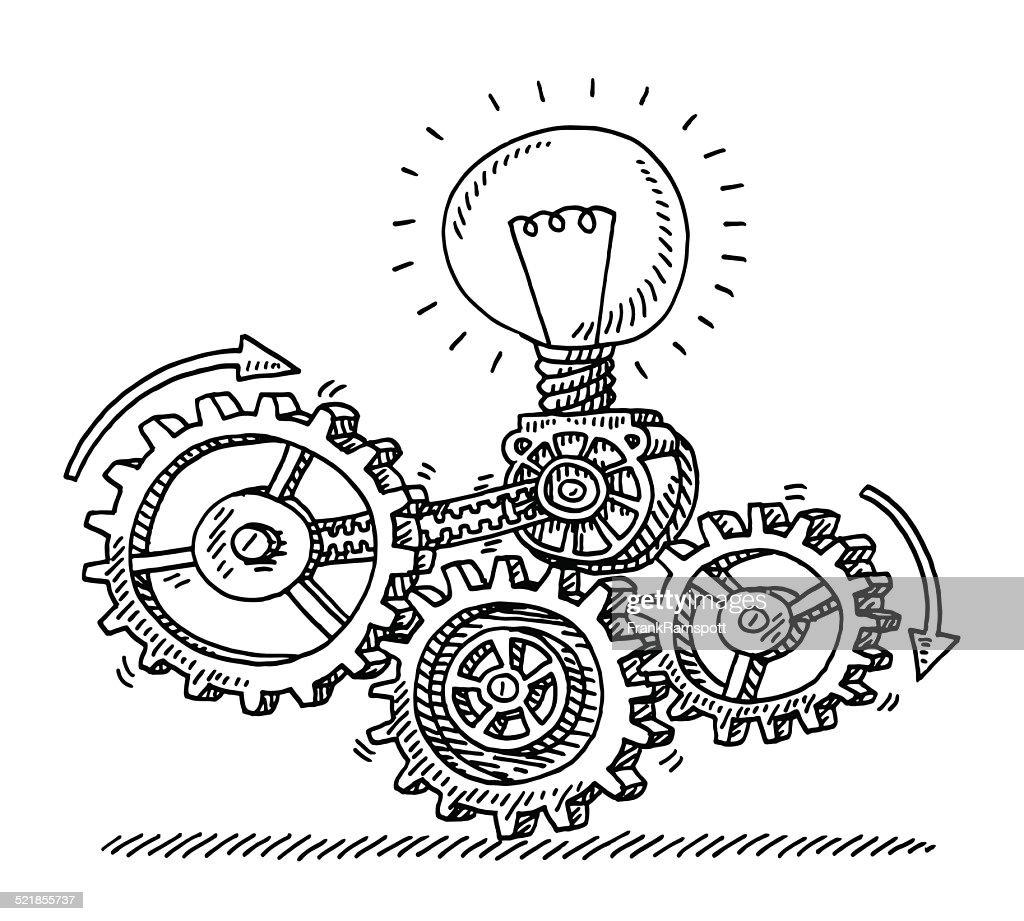 Gear Machine Idea Generator Drawing