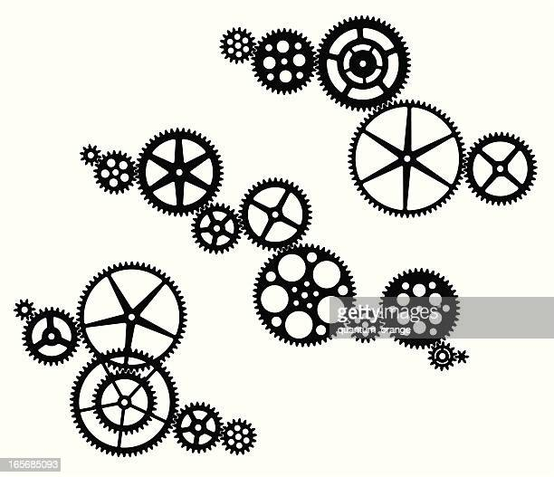gear set - machine part stock illustrations