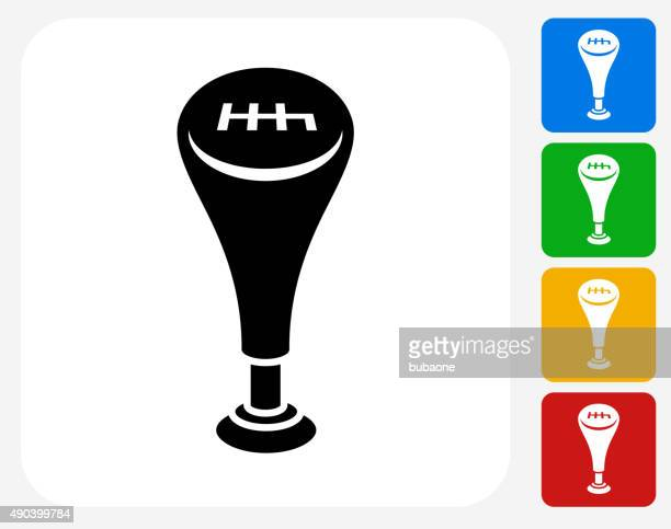 gear shift icon flat graphic design - gearshift stock illustrations, clip art, cartoons, & icons