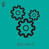 Gear vector icon eps 10. Gears
