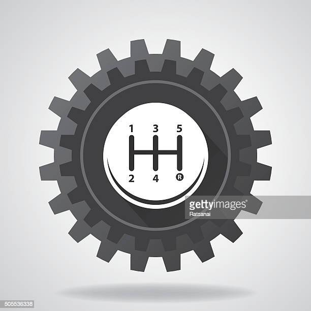 gearbox icon vector - gearshift stock illustrations, clip art, cartoons, & icons