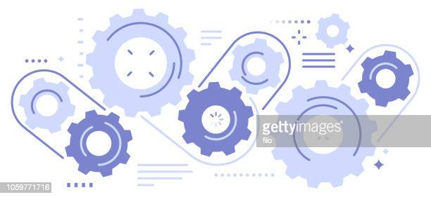 gears abstract - equipment stock illustrations