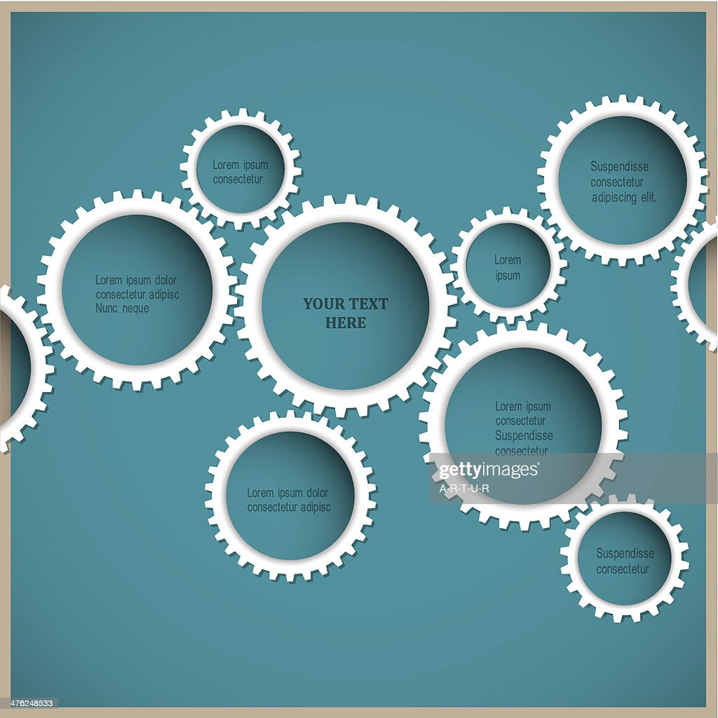 Gears - abstract Web design template