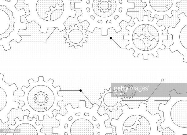 gears and cogs - cog stock illustrations