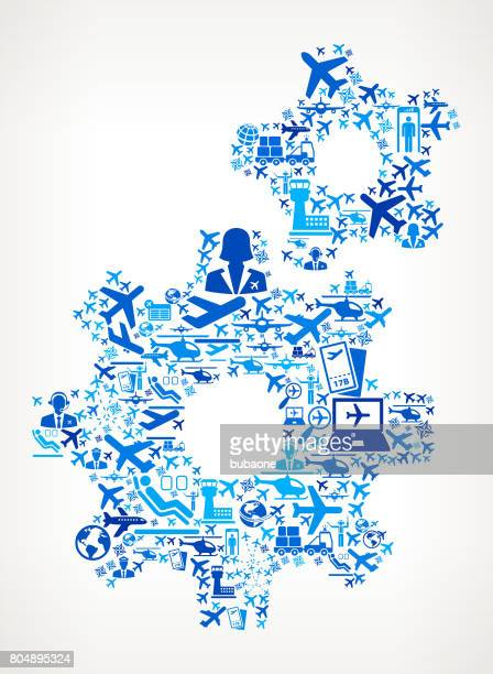 Gears  Aviation and Air Planes Vector Graphic