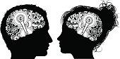 Gears Cogs Brain Concept