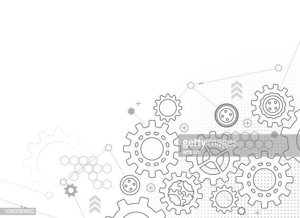 gears design background - cog stock illustrations