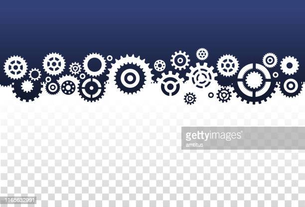 gears frame - equipment stock illustrations
