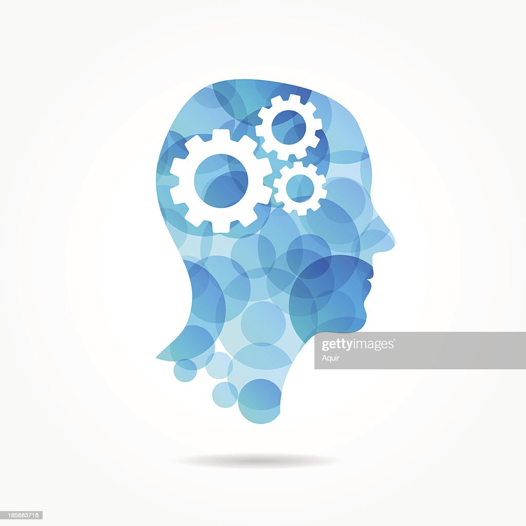 gears in bubble head poster