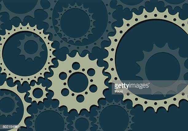 gears in flat style - gearshift stock illustrations, clip art, cartoons, & icons