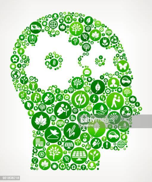 Engins dans l'esprit Nature et modèle icône de préservation de l'environnement