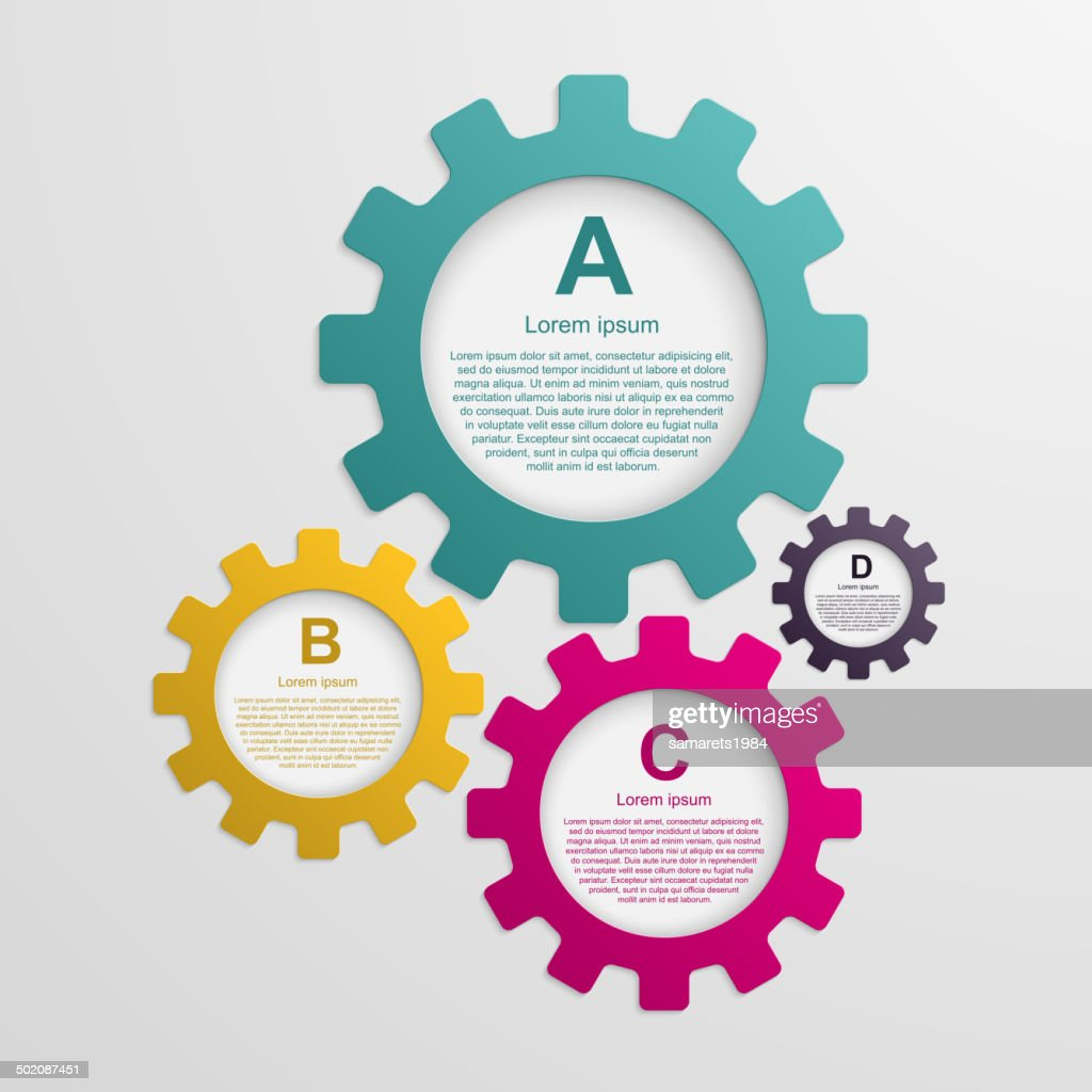 Gears infographic design template.